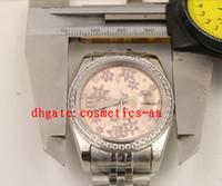 wrist watch gift box оптовых-Роскошные часы новое платье джентльмен 36 мм Сакура циферблат ограниченное высокое качество автоматические наручные часы + подарочная коробка