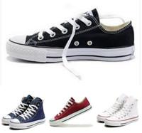Wholesale top shoes designer brands - brand Designers Unisex canvas shoes Low-Top & High Sport Shoes High quality men's women's canvas shoes sneakers zapatillas deportivas flats