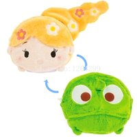 Wholesale Tsum Plush - New Tsum Tsum Rapunzel Princess Fashion Makeup Bag and Pascal Girls Woman Small Reversible Plush Stuffed Cute Cosmetic Bags Cases