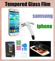 Wholesale Iphone4s Front Glass - 9h 2.5d glass screen protector tempered glass screen film protection for iphone4s 5s iphone6+ samsung s3 s4 s5 s6 edge galaxy note SSC046
