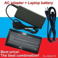 Wholesale Asus F5gl Battery - Super- 1pcs AC Adapter+1pcs battery For Asus A32-F5 F5 F5C F5GL F5M F5N F5R F5RI F5SL F5Sr F5V F5VI F5VL F5Z X50 X50C X50M X50N X50SL