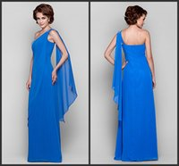 Wholesale Trumpet Style One Shoulder Dress - latest style One Shoulder Floor-length Chiffon Mother's Dresses Mother's Formal Wear Formal Party Elegant Floor-Length Evening Dresses