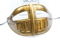Wholesale Drop Ship Celebrity - R.H. New Men's Venetian Roman knight masks eco-friendly soft plastic gold & silver colors half face 100pcs lot drop shipping hot sale