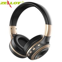 Wholesale Iphone Sd Slot - Bluetooth Headphones Headsets ZEALOT B19Wireless StereoHeadphone with Mic Headsets Micro-SD Card Slot FM Radio For Phone & PC