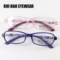 lunettes garçons bleu achat en gros de-Brand New Kids Lunettes Lunettes Lunettes Lunettes Cadre TR90 Pink Blue Lunettes Light Boys Girls Young Cute