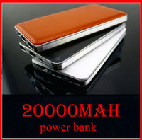 Logotipo customizável o brandnew Banco de poder de couro 30000mah Carregador portátil Powerbank Mobile Phone Backup Powers External Battery Charger