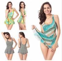 Wholesale Leopard Swimsuit One Piece - Sexy Women Leopard Swimsuits Bikinis Beach Swim Dresses For Women Plus Size One Piece Swimwears Swimming Wear Women Bathing Suit 0027SC-20