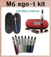 Wholesale Ego T Kit Tank - Ego starter kit Glass globe tank wax dry herb vapor atomizer Pyrex for Electronic cigarette M6 EGO-T Zipper case CA0005