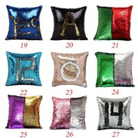 Подушка с надписью Sequin Pillow Mermaid Pillow Cover Glitter Реверсивный диван Magic Double Color Подушка 36 дизайн wen4606