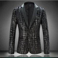 Blazer di pelliccia in pelle da uomo Plus Size M-4XL Fashion Designer Black Party Uomo Slim Fit Blazer Homme Outdoor Coat