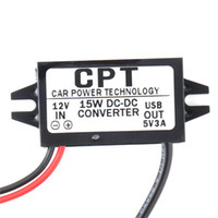 Wholesale Dc 12v 5v Converter - Car Charger DC Converter Module 12V To 5V 3A 15W with Micro USB Cable Newest High Quality