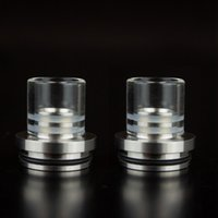 Wholesale chuff cap tobh resale online - ego top caps Chuff enuff drip tips MLV stainless Glass tip for Patriot Vulcan Infinite CLT Stillare Tobh Atty rda