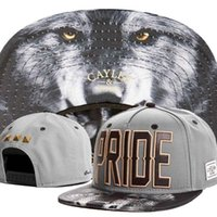 Wholesale Mens Wolf Hat - Wholesale-2015 new cool wolf adjustable baseball snapback hats for men and women sports hip hop mens womens sun caps wholesale fashion