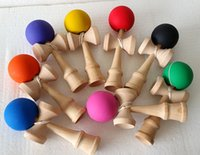 Wholesale Education Toys Wood - 2015 Fashion Funny Japanese Traditional Wood Game Toy Kendama Ball Education Toy Gift 80pcs free shipping