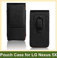 dikey kese klipsi toptan satış-Toptan Yeni Kemer Klip PU Deri Dikey Kapak Kılıfı Kılıf LG Nexus 5X H791 H790 Ücretsiz Kargo