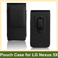 Wholesale Lg Nexus Leather Pouch - Wholesale New Belt Clip PU Leather Vertical Flip Cover Pouch Case for LG Nexus 5X H791 H790 Free Shipping