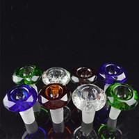 tubos de gás venda por atacado-Colorido Diamante Masculino Tigela De Vidro 18.8mm 14mm Tigelas De Vidro Bong 14.4mm 18mm Tubos De Água Tigelas de Tabaco Gass Tigela Colorida Acessórios de fumar