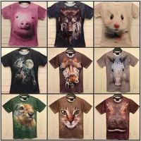 Wholesale Tv T Shirts Wholesale - New Novelty Cotton 3D Men's T-shirts O-neck 3D Printed Hot Sale Summer Clothes Free Shipping Random Sending