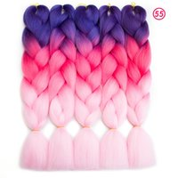 Wholesale Beauty Braids - Wholesale Price Ombre Synthetic Braiding Hair Crochet Braids Senegalest Twist Hair Extensions Beauty Color Kanekalon Braiding Hair