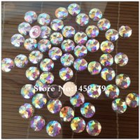 Wholesale Wholesale Shoes Crystal Stone - Wholesale-Free Shipping High Quality New Rhinestones Acryl White Crystal AB Stick-ON Garments Shoes Bags Hat Loose Shiny Stones r3