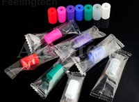 Wholesale Disposable Clearomizer - Silicone Mouthpiece Cover Silicon Drip Tip Disposable Colorful Rubber Test Tips Cap Individually Package For CE4 Clearomizer Atomizer Ecig