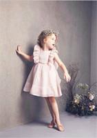 Wholesale Wholesale Kids Dresse - kids ruffle sleeveless dress kids chiffon big bowknot dresse elegant baby girls princess dress free shipping