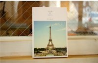 Wholesale Original Themes - Cute Architecture Postcards pet theme postcards original designer greeting gift card 32 pcs set Free Shipping