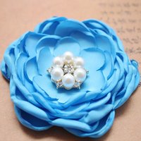 Wholesale Organza Flowers For Headband - New Arrival 1 Piece Handmade Organza Trimmings DIY Artificial Flower Sewing Craft For Grament Headband Hair Accessories YR0009