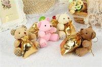 Wholesale Teddy Bear Mobile Phone Hanging - 2016 hot new Teddy bear mobile phone pendant hang adorn plush dolls plush toys.Christmas gift