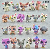 Wholesale Wholesale For Pet Shops - 24pcs lot Little Pet Shop Mini 3-5cm LPS Toys Animal Cartoon Cat Dog Action Figures Collection toys for kids,Christmas gift for kids toys
