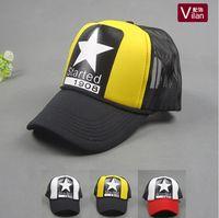 Wholesale Nice Hat Snapback - A big star in the hat! Simple Cool Nice caps hat baseball snapcap snapback Men women hiphop sport hats Gorras cap hat