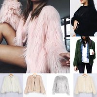 Wholesale Ladies Pink Winter Coats - Women Luxury Winter Warm Outcoat Faux Fur Jacket Lady Top Down Coat Outwear