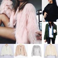 Wholesale Down Women Fur Vest - Women Luxury Winter Warm Outcoat Faux Fur Jacket Lady Top Down Coat Outwear