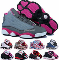 Wholesale High Cut For Womens - Fashion 13 XIII Basketball Shoes For Women,High Quality Woman 13s Athletic Sport Sneakers Trainers Womens Shoe Black White Flower Size 36-40