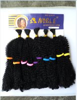 Wholesale Noble One Piece - 1PC+Premium Noble Kinky Bulk Hair 30cm Color1#,350# 5Bundles In One Pack Afro Kinky Braiding Hair Wholesale Black