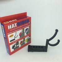Wholesale outdoor clothing hats - Hatrider Plastic Hook Black Wear Resistant Car Hat Hanger Simple Practical Durable Pothook For Outdoor Hot Sale 11cs B