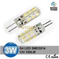 Wholesale 24v Led Light Bulbs G4 - X5 Free shipping High Power LED Lamp G4 G9 24   48   64 leds SMD 3014 3W 5W 7W 110V 220V DC 12V lighting bulb light warranty 2 years