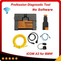 Wholesale Icom Bmw A2 Wifi - 2015 New ICOM A2 WIFI for bmw Diagnostic & Programming For BMW ICOM A2+B+C 3 in 1 Scanner No software with Multi-Languages free shipping