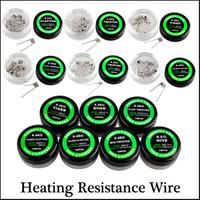 quad coil rda großhandel-Alien Flat Twisted Wire Fused Clapton Spulen Hive vorgefertigten Wrap Drähte Mix Twisted Quad Tiger 10 Stück / Karton für RDA RDTA RTA
