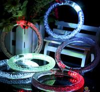 Wholesale Chiristmas Decoration - 600pcs lot Free Shipping DHL Flashing LED Bracelet Luminous Bracelet Glowing Wrist Band Chiristmas Party LED Light Sticks LED Poms Cheer It