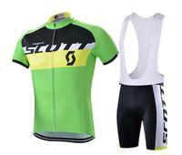 camisas de ciclismo unisex venda por atacado-Verde New Hot Sale Unisex Dois Estilo de Ciclismo Respirável Curto Jersey Ciclismo Roupas Com Shorts / Bermuda ST015