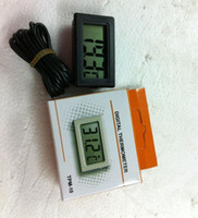 Wholesale Display Freezers - Wholesale Lots300 High Quality LCD Refrigerator Thermometer for Fridge Freezer Digital Display Free Shipping