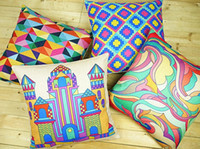 Wholesale Exclusive Cover - exclusive colorful abstract geometry pop art pillow case decorative Chromatic cushion cover for sofa pillow covers decorative