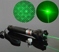 laser verde verde visível venda por atacado-Nova Alta Qualidade 532nm Verde Laser Pointer Pen Feixe Visível + Carregador de Bateria STAR Cap Lazer Ponteiro