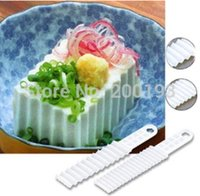 SMILE MARCHÉ 2piece / set 22,4 * 4.5cm blanc Wavy Tofu Knife