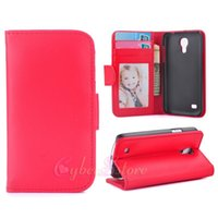 Wholesale Galaxy S3 Flip Case Stand - For Galaxy S7 edge S3 S4 S5 mini Wallet Leather Case Photo Frame Flip Cover Stand With Card Holder For Samsung I8190 I9190