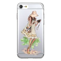 Wholesale Cover Iphone Camera Silicone - Shaka Laka camera Phone Shell Clear Soft TPU fashion beauty Case For iPhone 6 6S 5.0in 6Plus 7 7plus 8 8s plus silicone back Cover