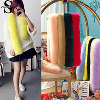 Wholesale Womens Scarf Cheap - Fashion Womens Faux Fur Scarf Neck Wraps Many Color Winter Scarves Cheap Solid Color Shawl Scarf CJE1005