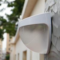 ampoule pc couverture achat en gros de-Free shpping 6LED lumière solaire mur lumière extérieure lumière clôture de jardin lumières imperméable à l'eau 5pcs / lot