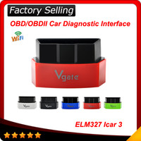 Wholesale Diagnostic Car Pc - 2016 New Vgate iCar3 Vgate icar 3 Wifi ELM327 OBD OBDII OBD2 Wi-fi ELM 327 Car Diagnostic interface Tool Support Android  IOS PC